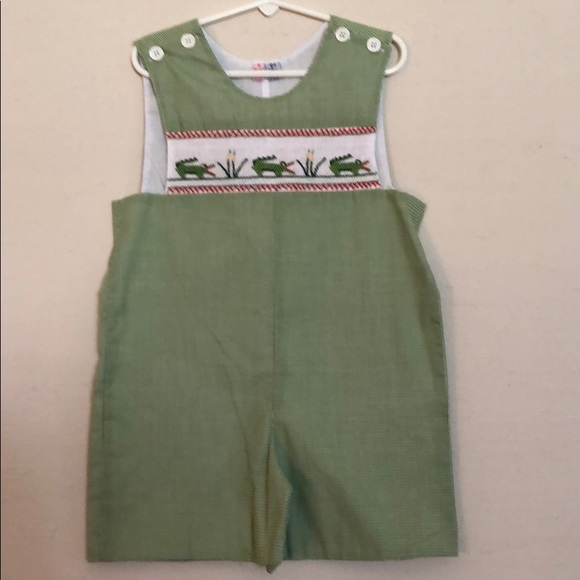 Orient Expressed Other - Orient Expressed Smocked Gator Shortall Size 5